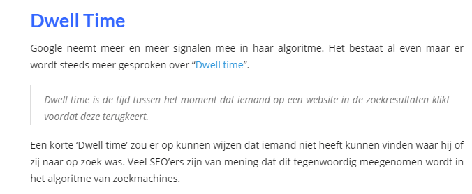 Dwell-time-voorspelling