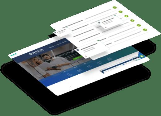 Website van Dyflexis met supportoverzicht